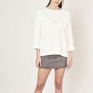 Laju fringe detail sweater